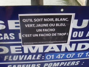 from a series of street posters, Paris, July 2012