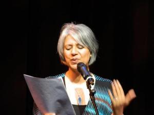 on stage @Douglas College LITFESTnewwest 2012