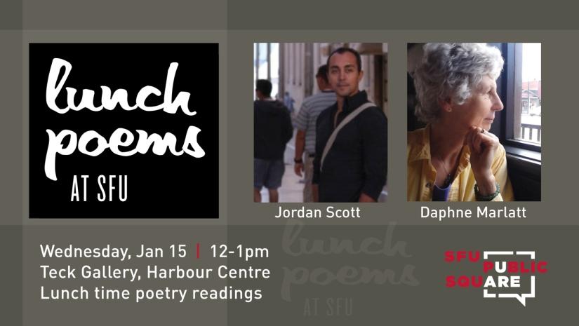 SFU Lunch Poems with Jordan Scott and Daphne Marlatt - Jan 15