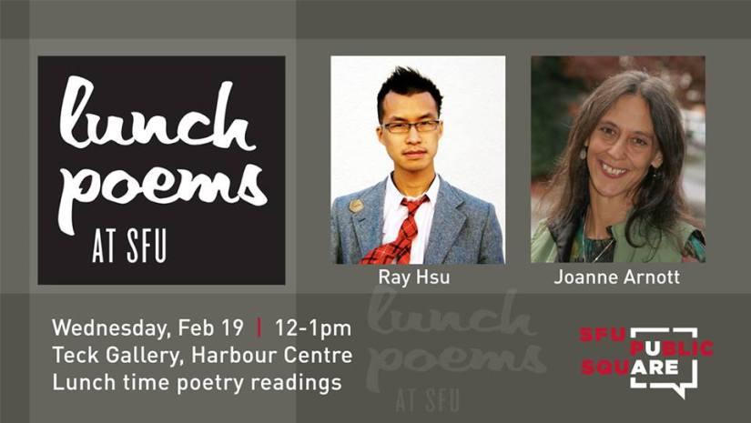Feb 2014 Lunch Poems Ray Hsu Joanne Arnott