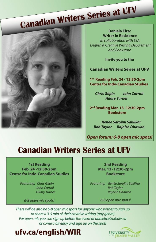 Canadian Writer Series with Daniela Elza UFV