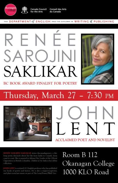 John Lent Renee Saklikar Okanagan College March 2014