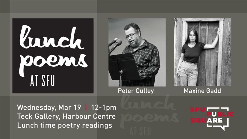 Lunch Poems with Peter Culley Maxine Gadd