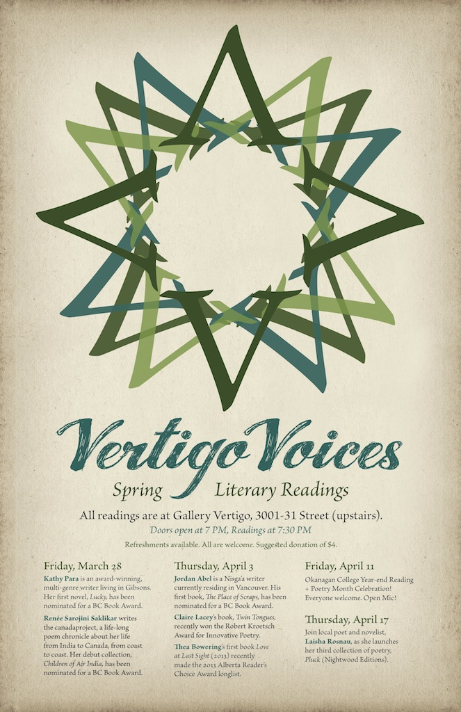 Vertigo Voices Spring Reading