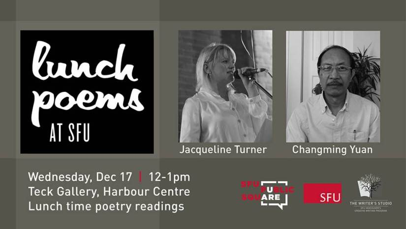 SFU lunch poems jacqueline turner changming yuen