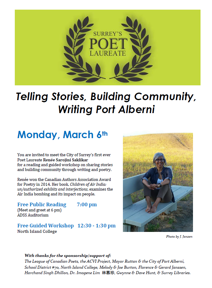 Port Alberni Poetry Event North Island College