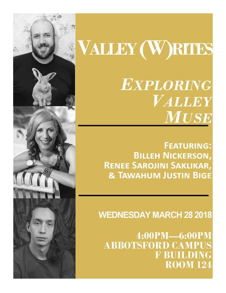 Writing Valley Muse Poster 2018