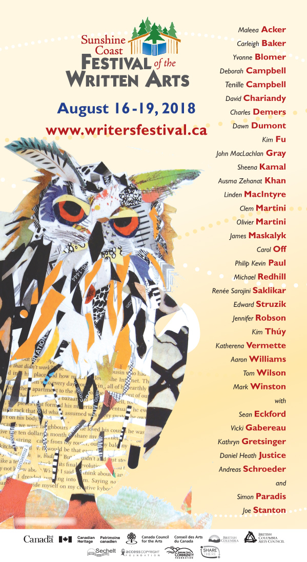 Save The Date Sunshine Coast Festival Of The Written Arts Thecanada Project
